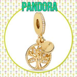 Authentic Pandora family heritage dangle charm